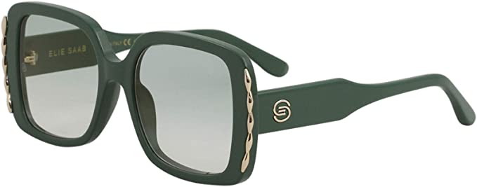 Amazon Com Elie Saab Women S Es 015s 015 S 1ed2z Green Fashion Square Sunglasses 54mm Clothing