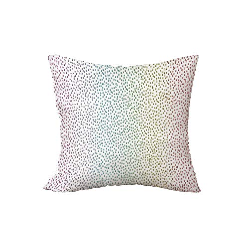 Polyester Throw Pillow Cushion,Farmhouse Decor,Gradient Downpour Figure in Large Spectrum Spotted Little Liquids Wet Home Decor,Multi,15.7x15.7Inches,for Sofa Bedroom Car Decorate