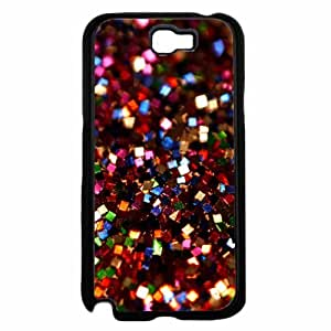 Red Square Glitter - Phone Case Back Cover (Galaxy Note 2 - Plastic)