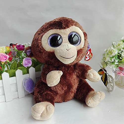 WATOP Stuffed Animals - Teddy Bears | All Tags 25cm Original ty Beanie boos Plush Toy Big Eyed Stuffed Animal Coconut Monkey Kids Toy Birthday Gift Home Decor