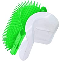 Cat Self Groomer with Catnip, Grooming Brush, Wall Corner Massage Comb, for Long & Short Fur Cats/Dogs, Helps Prevent Hairballs and Controls Shedding (Green)
