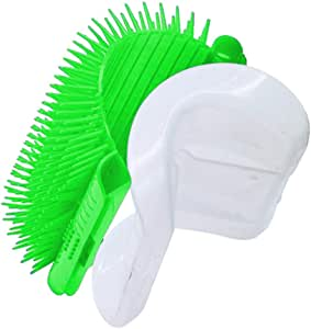 TabEnter Cat Self Groomer with Catnip,Grooming Brush,Wall Corner Massage Comb,for Long & Short Fur Cats/Dogs,Helps Prevent Hairballs and Controls Shedding (Green)
