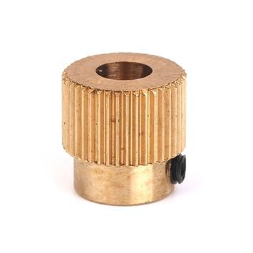 Homyl Engranaje De La Impulsión del Extrusor 40 Dientes De Cobre Eje De 5 Mm De La Impresora 3D Filamento De 1,75 Mm