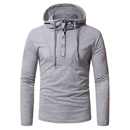 Sunhusing Men's Hipster Camouflage Long Sleeve Drawstring Hoodie Sweater