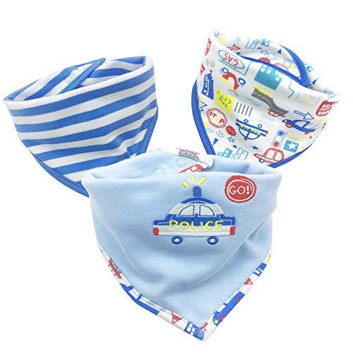 3PCS Newborn Baby Bibs Waterproof Bandana Cute Cartoon Pattern Toddler Saliva Towel Cotton Infant Burp Cloths by VADOLY