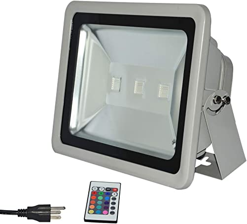 RSN LED Flood Lights RGB with Remote Control, IP65 Waterproof Dimmable Color Changing Floodlight, 16 Colors 4 Modes Wall Washer Light, Outdoor Decorative Garden Stage Landscape Lighting 150