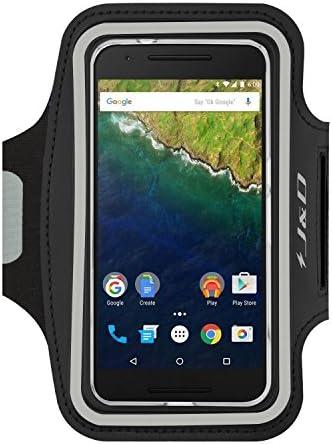 [해외]J&D Armband Compatible for Nexus 6P Armband Sports ArmbandKey Holder Slot for Google Nexus 6P Running Armband Perfect Earphone Connection While Workout Running - Black / J&D Armband Compatible for Nexus 6P Armband Sports ArmbandKey...