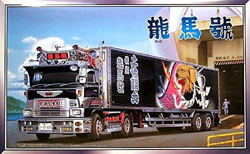 青島文化教材社 1/32 大型デコトラ No.78 椎名急送 龍馬号 パネルトレーラー