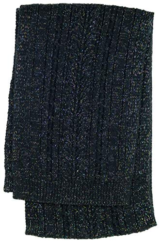 UGG Womens Cable Scarf In Black Metallic Plaited
