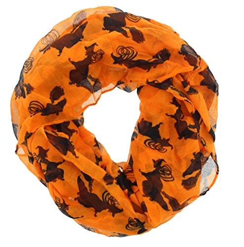 Women's Halloween Gauze Infinity Scarf
