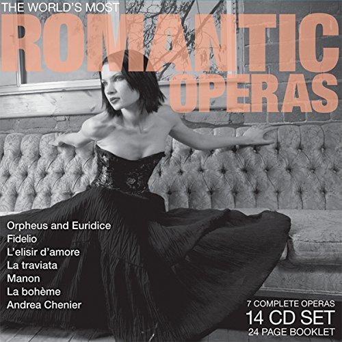 World's Most Romantic Operas: Orpheus and Euridice / Fidelio / L'Elisir D'Amore / La Traviata / Manon / La Bohem / Andrea Chenier
