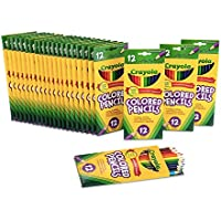 Crayola 24-Pack 12 Assorted Colors Pre-Sharpened Pencils