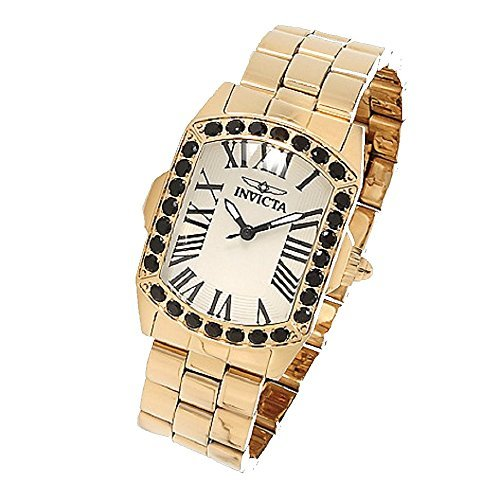 Invicta Women's Lady Lupah Limited Edition Quartz Black Spinel Stainless Steel Bracelet Watch