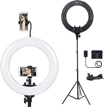 """18/"""" LED Luz de anillo de atenuación Iluminación retrato de foto Con Soporte Kit para YouTube"""
