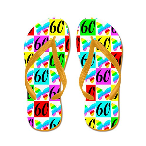 60TH Butterfly - Flip Flops Funny Thong Sandals Beach Sandals