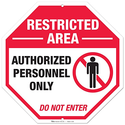 Restricted Area Sign Aluminum Outdoor product image