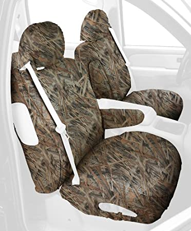 Polyester Fabric Covercraft SS2299TTFT Custom-Fit Front Bucket SeatSaver Seat Covers Flooded Timber
