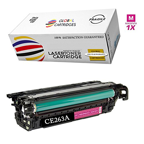 GLB Premium Quality Remanufactured Replacement for HP 648A Magenta CE263A Toner Cartridge for HP Color Laserjet CP4520, CP4025, CP4025N, CP4025DN, CP4525N, CP4525DN, CP4525XH (Hp Laserjet Cp4520 Ink)