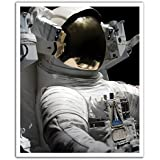 JP London Peel and Stick Removable Wall Decal Sticker Mural, Nasa Space Face Astronaut, 19.75 by 24-Inch