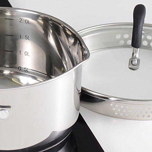 -[ ProCook Gourmet Steel Induction Saucepan Set 4 Piece - JANUARY SALE!  ]-