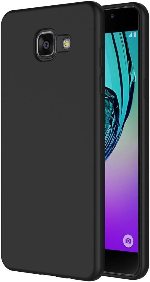 Coque Samsung Galaxy A5 2016,AICEK Noir TPU avec surface mate Étui Housse Pour Galaxy A5 2016 A510 Coque de protection Housse légère profil en ...