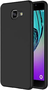 AICEK Funda Compatible Samsung Galaxy A5 2016, Negro Silicona Fundas para Galaxy A5 2016 Carcasa A510 (5,2 Pulgadas) Negro Silicona Funda Case: Amazon.es: Electrónica