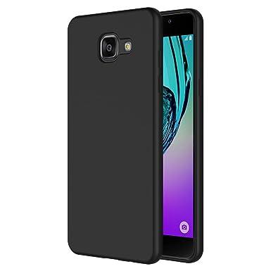super popular ae036 95bbe AICEK Samsung A5 2016 Case, Black Silicone Cover for A5 2016 Bumper Covers  Black Case A510