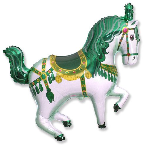BALLOON GREEN CAROUSEL HORSE FAVORS product image