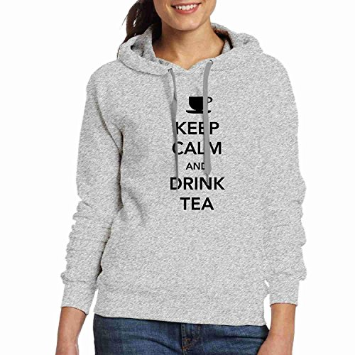 Sweatshirt Calm Grey Keep Drink Tea Womens Hoodies Customized Tshirts Hoodies and xFz6zA