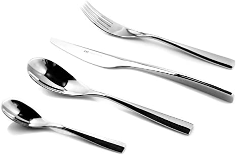 Knd Silverware Set 24 Piece Flatware Set Service For 6 Stainless Steel Cutlery Rust Proof Cutlery Serving Utensils Include Knife Fors Spoon Mirror Polished Dishwasher Safe Silver Flatware Sets
