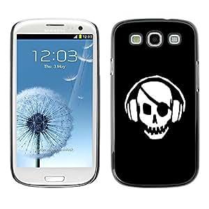 Be Good Phone Accessory // Dura Cáscara cubierta Protectora Caso Carcasa Funda de Protección para Samsung Galaxy S3 I9300 // Skull Pirate Beat