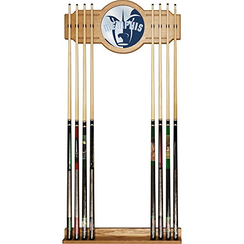 Trademark Gameroom NBA6000-MG2 NBA Cue Rack with Mirror - Fade - Memphis Grizzlies by Trademark Global