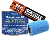 Durabak Black Textured - Outdoor - UV Resistant - Truck Bed Liner Quart KIT - Roll On Coating | DIY Custom Coat for Bedliner and Undercoating - Auto Body - Automotive Rust Proofing - Boat Repair