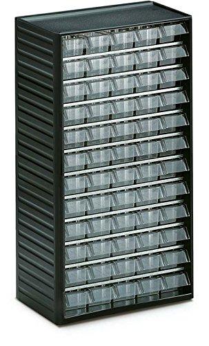 Treston 550-3 Kleinteilemagazin Serie 550 mit 60 Schubladen glasklar