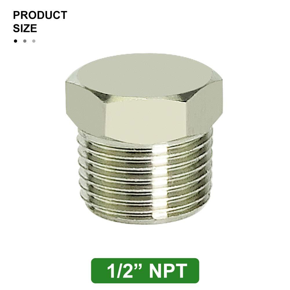 "2Pcs,3//8/""NPT Allen Socket Pipe Plug Screw."