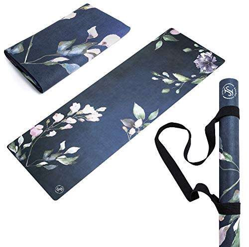 Amazon.com : June & Juniper Foldable Travel Yoga Mat, Thin ...