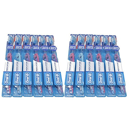 Lot of 2 Oral B Toothbrush Indicator Contour Clean Soft (6 pcs) 10300410802001