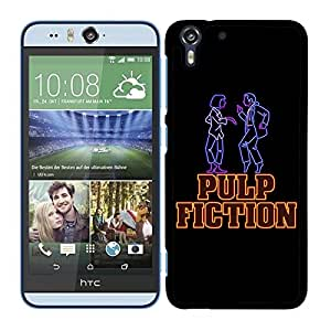 Funda carcasa para HTC Desire Eye M910X diseño fiction fondo negro borde negro
