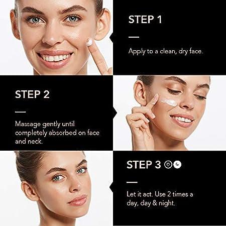 KPS VITAL 【PREMIUM】 OLEALAF Crema Antiarrugas Mujer de Día y Noche | Hidratante | Cara Piel Grasa y Seca | Ácido Hialurónico | Antiarrugas | Anti edad | Anti manchas | Blanqueadora, 50 ml
