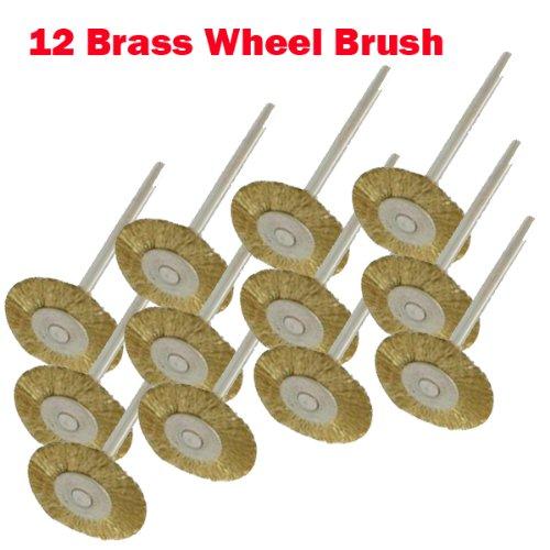 12 Rotary Brass Wire Brush Wheel Dremel 3000 4000 8220-2/...