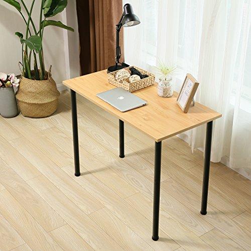 Eyabuynar Computer Table Writing Desk Workstation Office Desk (47x23.6 inch, Walnut + Black Leg) by Eyabuynar