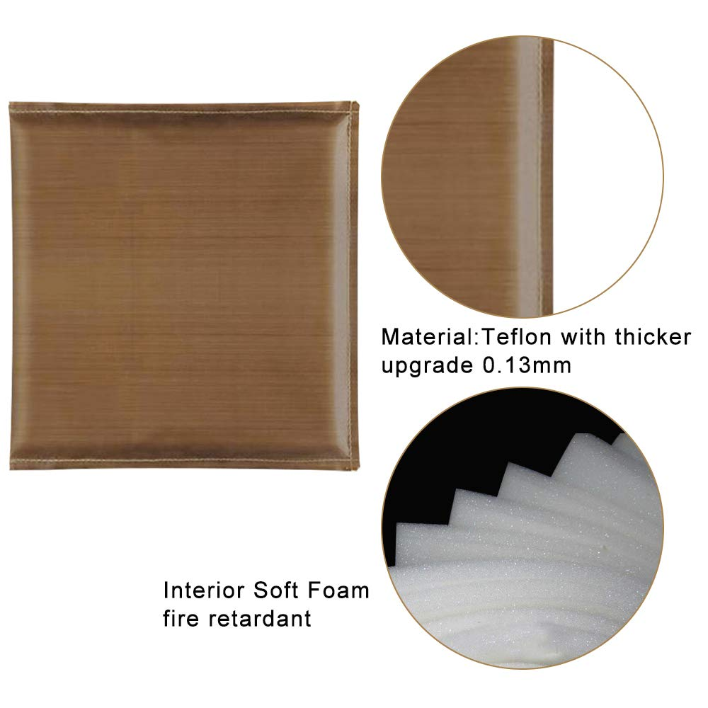 Hicdaw 3Pack Heat Press Pillow Heat Pressing Transfer Pillows Heat Easy Press Mat Resistant Heat Press Mat for Heat Press Digital Transfer
