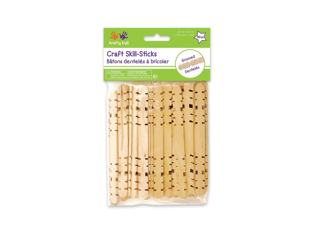 Craft Skill Sticks-Natural 4.5 80 Pcs Notions - In Network 491944