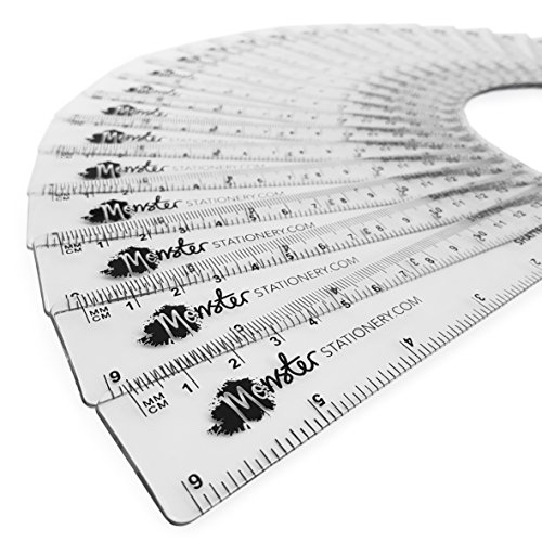 Zip 6 Inch / 15cm Translucent Plastic Rulers - Clear - Class Pack of 50