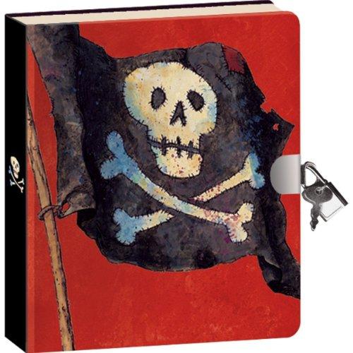 دفتر خاطرات روزانه با طرح دزدان دریایی پادشاهی صلح جو، همراه با کلید و قفل. |