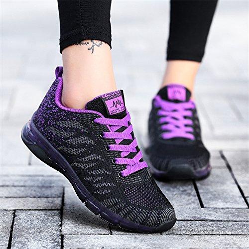 Outdoor Schuhe Paar Sport Damen Athletische Freien Im Fitnessschuhe Lila Sneakers Laufschuhe AARDIMI Leichte Mesh Bequeme Frau Breathable qCApwRx