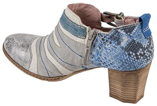 Piel Y Mujer Para Zapatos Blanco Plateado Charme Vestir De Azul Multicolor zAt1Awq