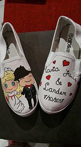 Zapatillas pintadas a mano para boda