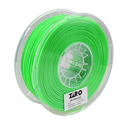 ZIRO 3D Printer Filament PLA 1.75 1KG(2.2lbs), Dimensional Accuracy +/- 0.05mm, Fluo green