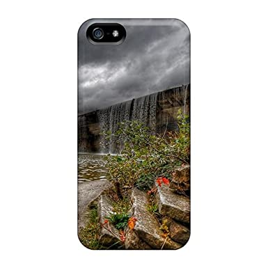 e89b37d921c1cc Awesome Case Cover iphone 5 5s Defender Case Cover(falls Over A Dam Hdr)   Amazon.co.uk  Electronics